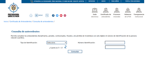 descargar certificado antecedentes procuraduría