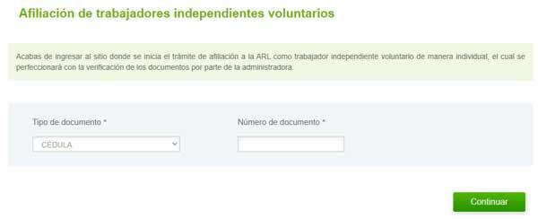 afiliación trabajadores independientes sura