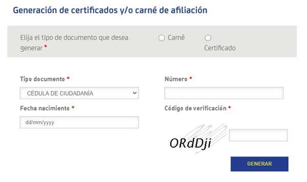certificado afiliación sura