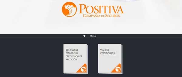 descargar certificado positiva