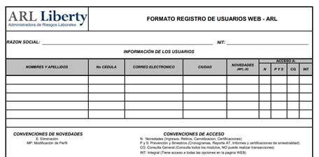 formulario voluntarios liberty