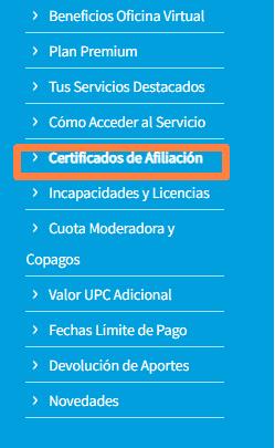 descargar certificado de-afiliacion eps sanitas colombia