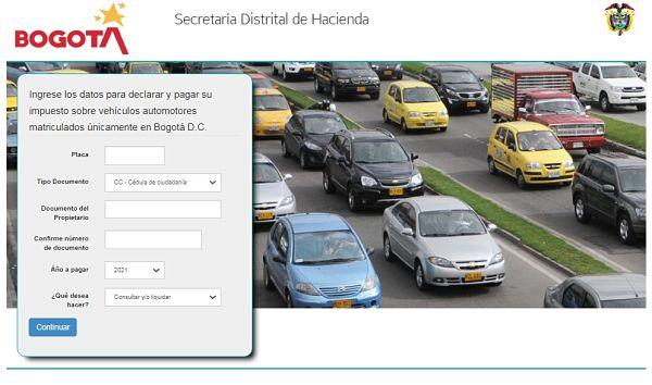 pago de impuesto vehicular