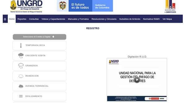 UNGRD, sitio web para consultar el RUD