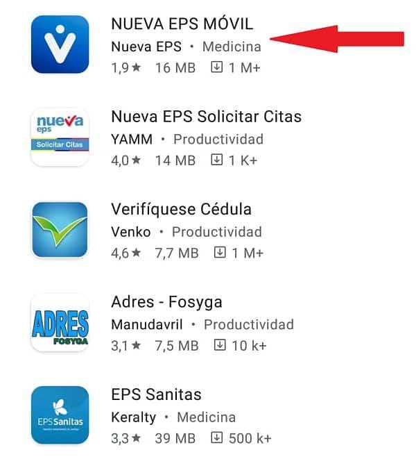 Citas Médicas Nueva EPS.