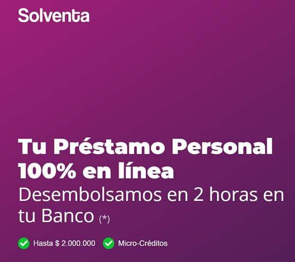 Sitio web de Solventa