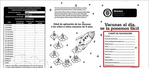 carnet de vacunas Colombia