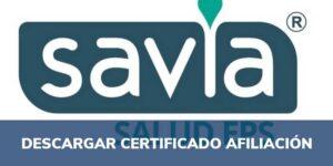 certificado afiliación savia salud