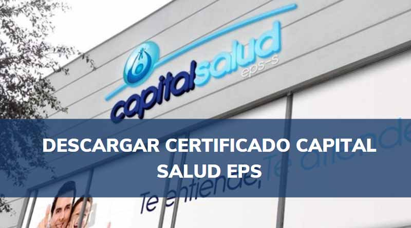 certificado de afiliación capital salud