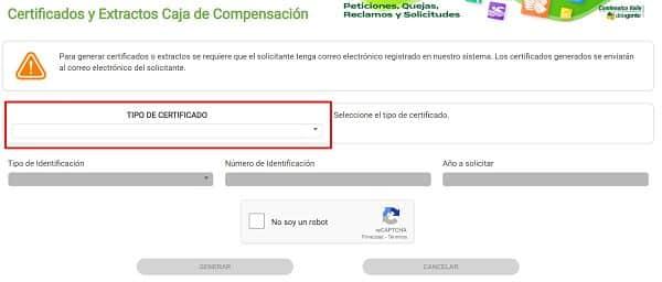 certificado afiliacion comfenalco